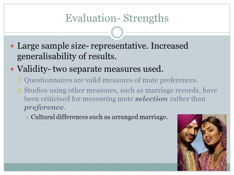 Evaluation- Strengths