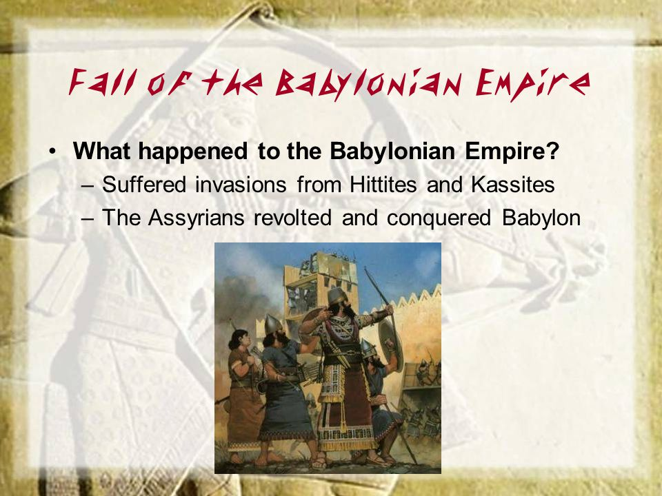 Fall of the Babylonian Empire