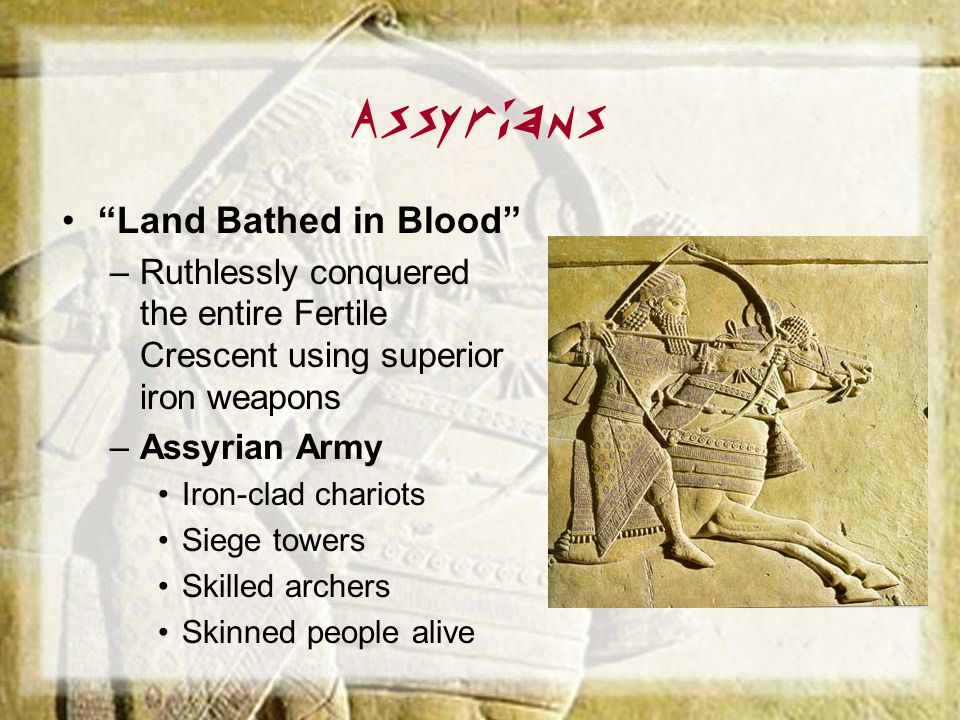 Assyrians Land Bathed in Blood