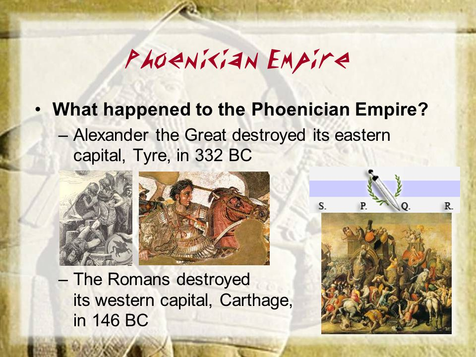 Phoenician Empire What happened to the Phoenician Empire
