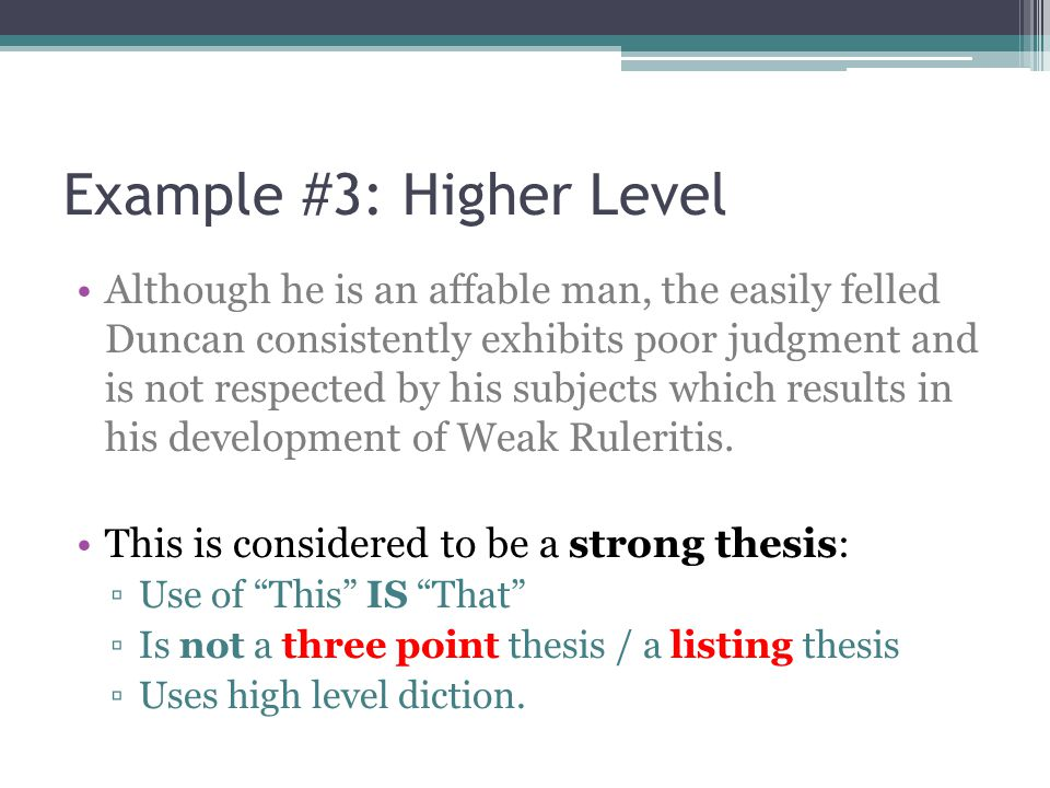 Example #3: Higher Level