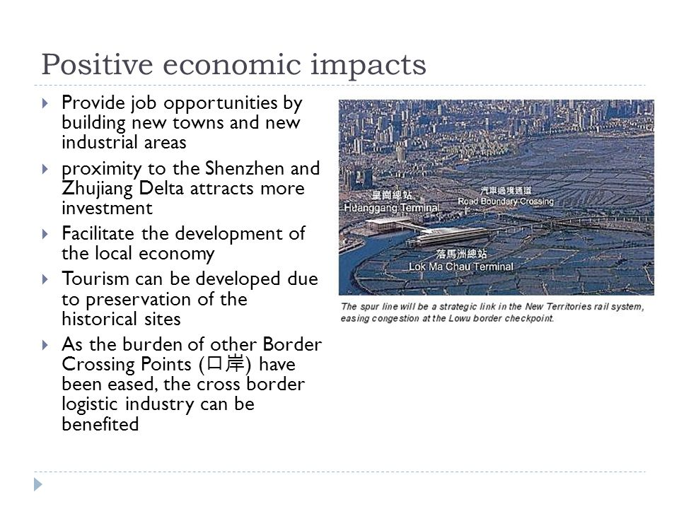 Positive economic impacts