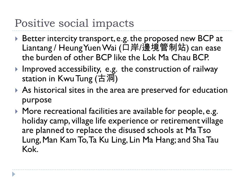 Positive social impacts