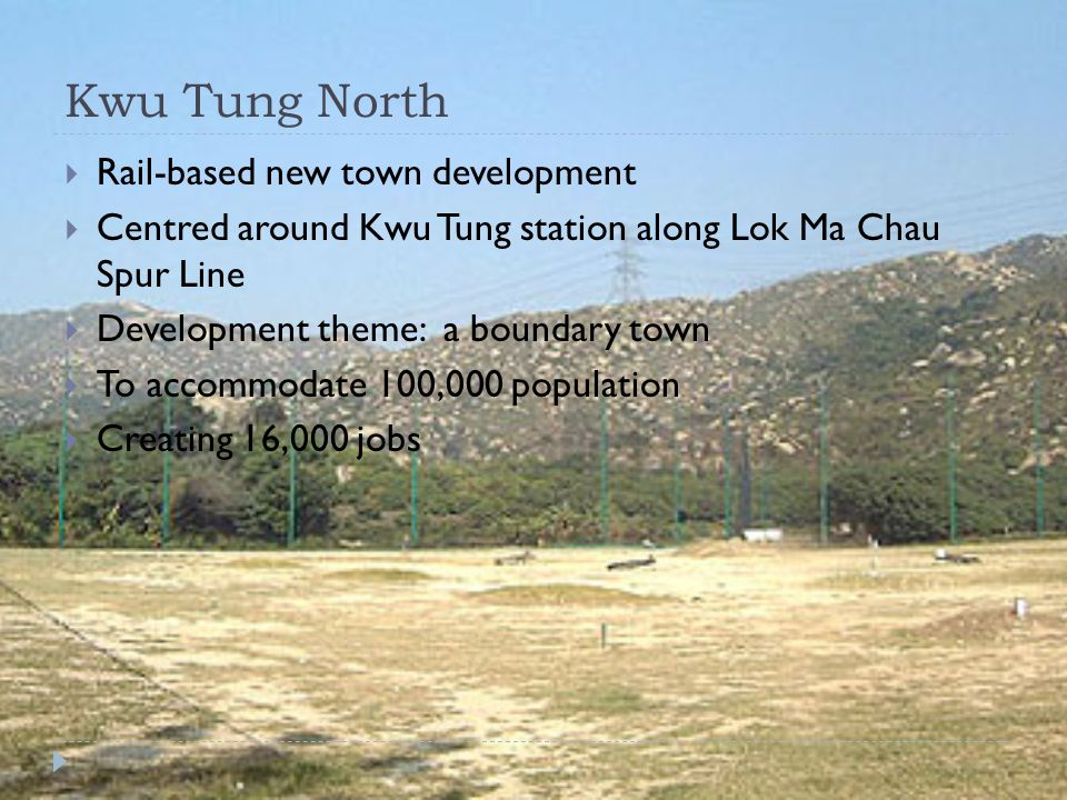 Kwu Tung North Rail-based new town development