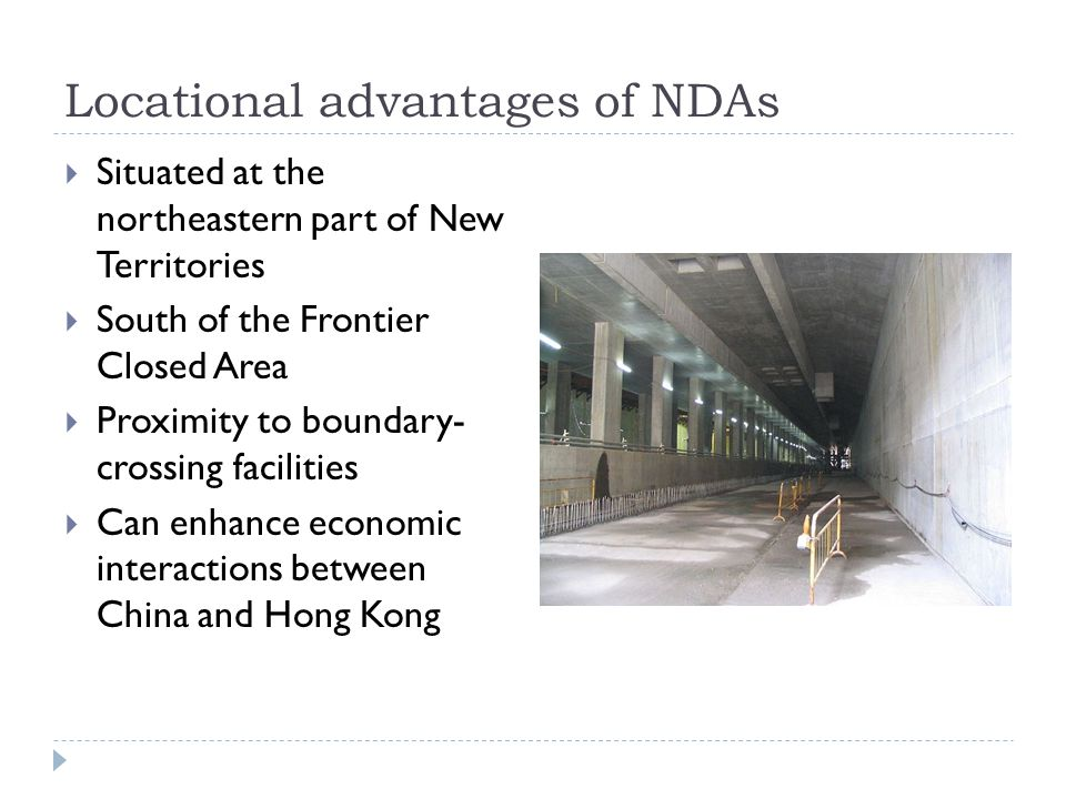 Locational advantages of NDAs