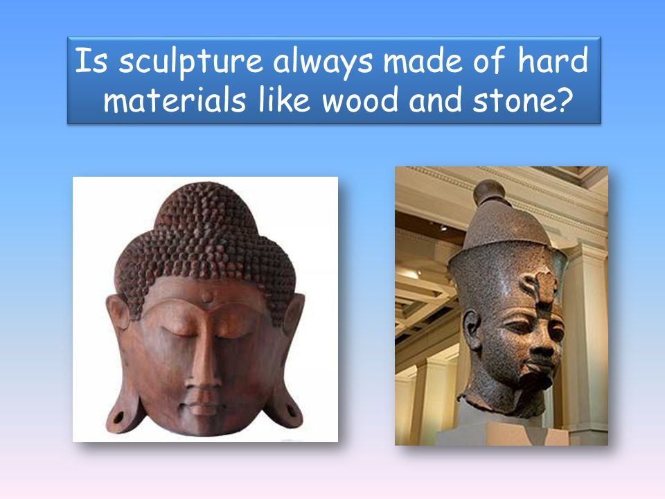 materials like wood and stone