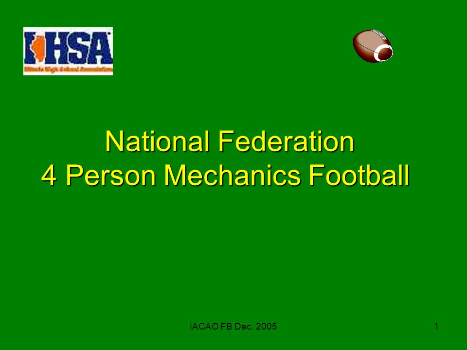 National Federation 4 Person Mechanics Football