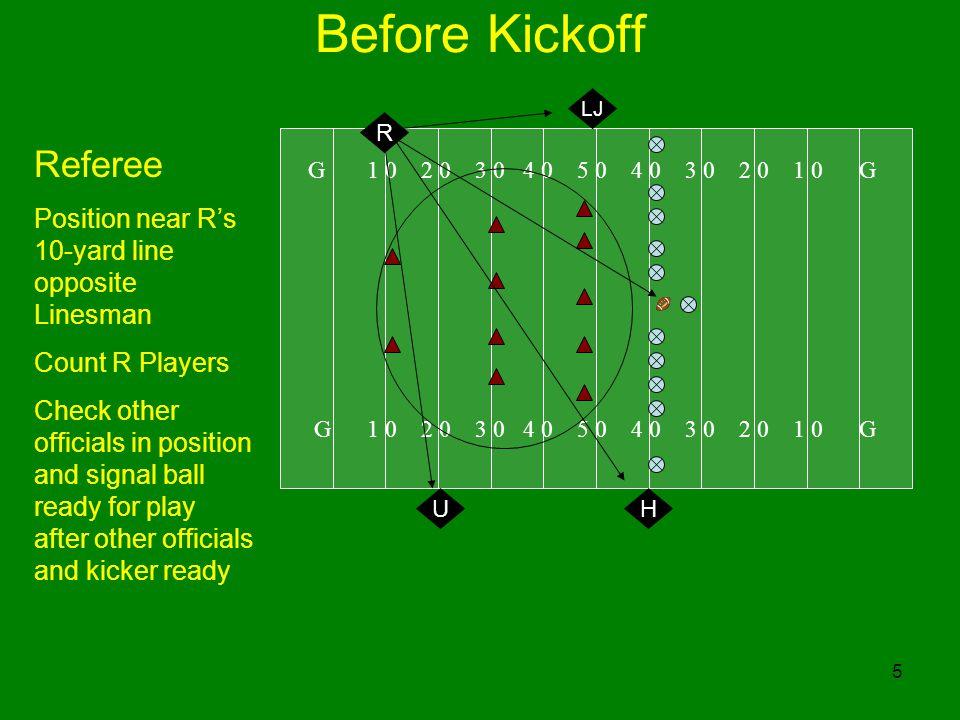 Before Kickoff Referee