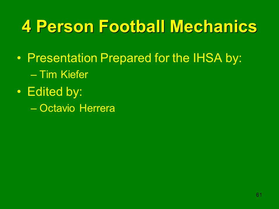 4 Person Football Mechanics
