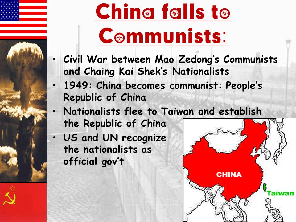 China falls to Communists:
