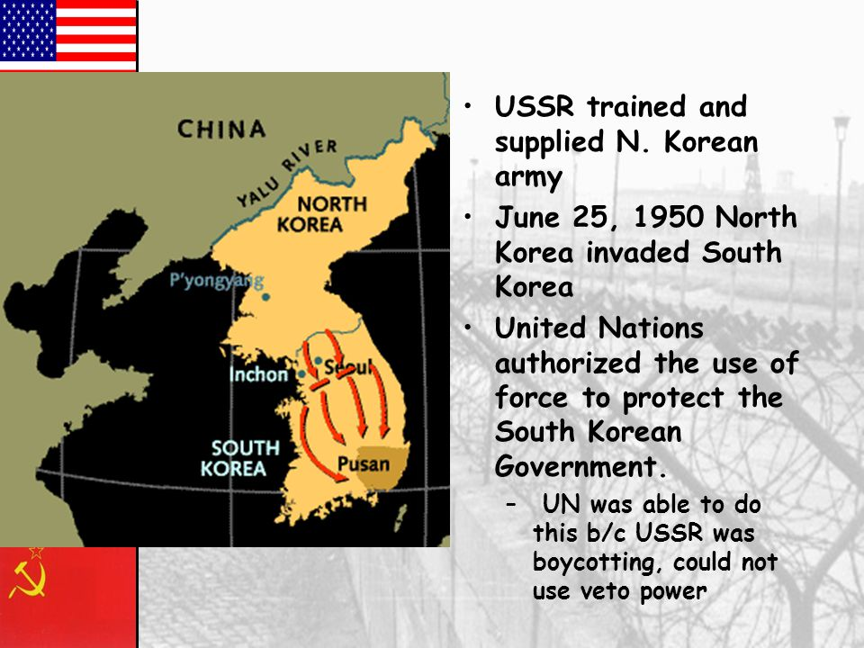 USSR trained and supplied N. Korean army