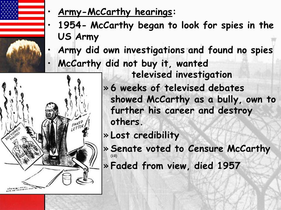 Army-McCarthy hearings: