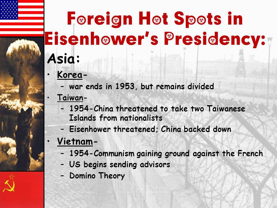 Foreign Hot Spots in Eisenhower's Presidency: