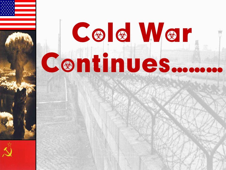 Cold War Continues………