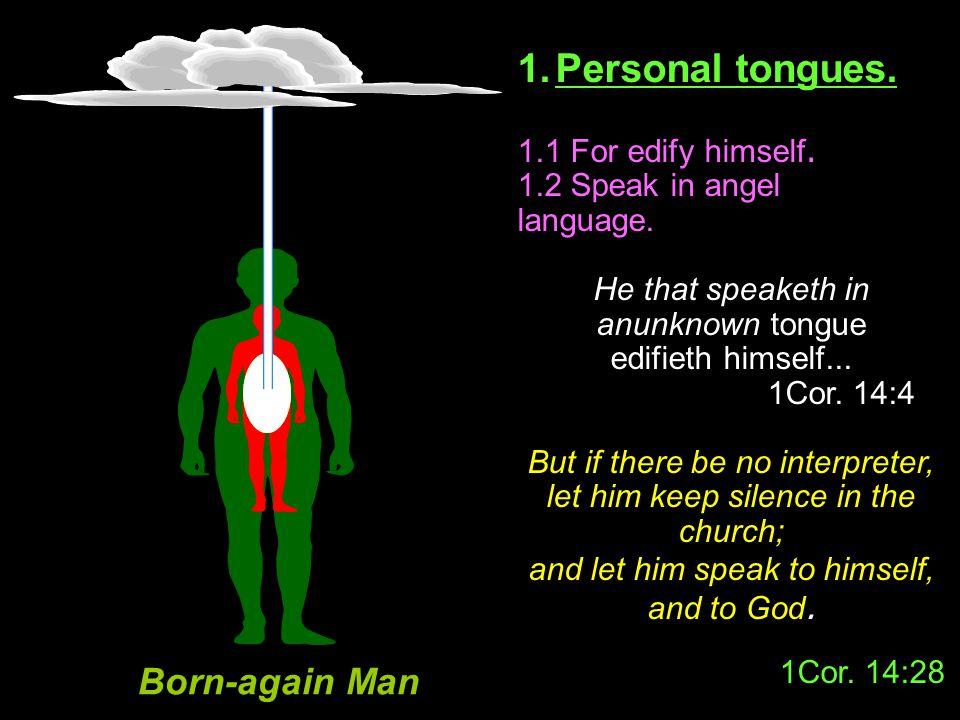 Born-again Man 1. Personal tongues. 1.1 For edify himself.