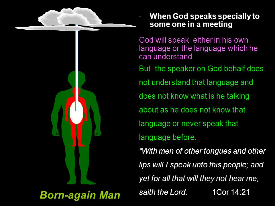 Born-again Man When God speaks specially to some one in a meeting