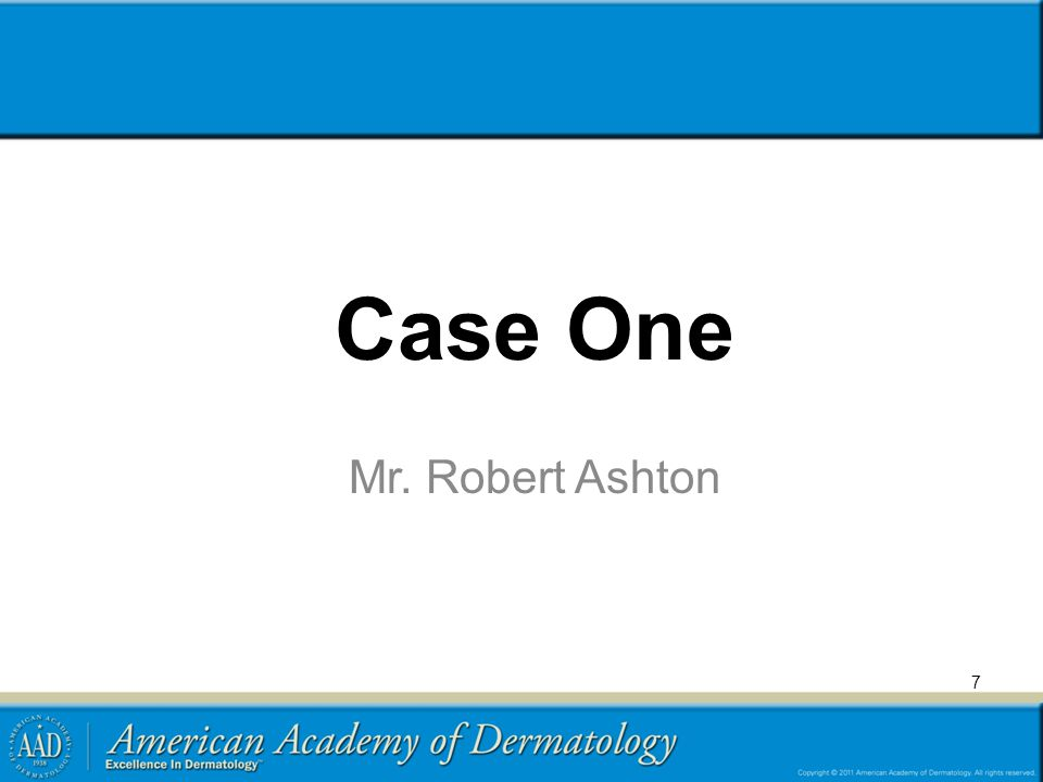 Case One Mr. Robert Ashton