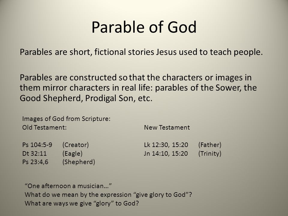 Parable of God
