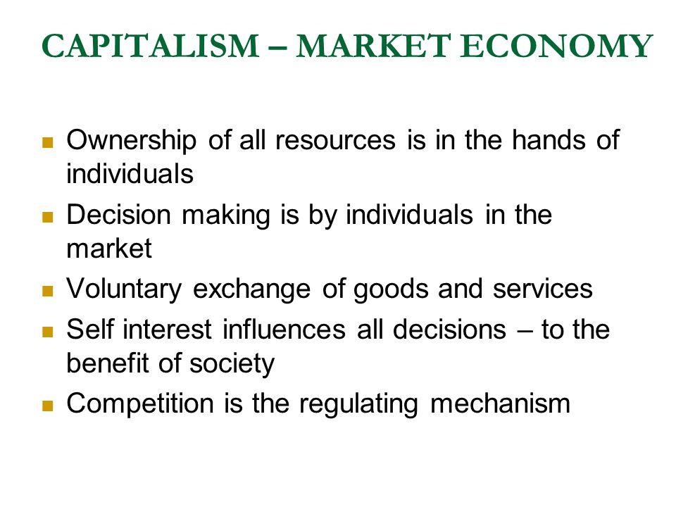 CAPITALISM – MARKET ECONOMY