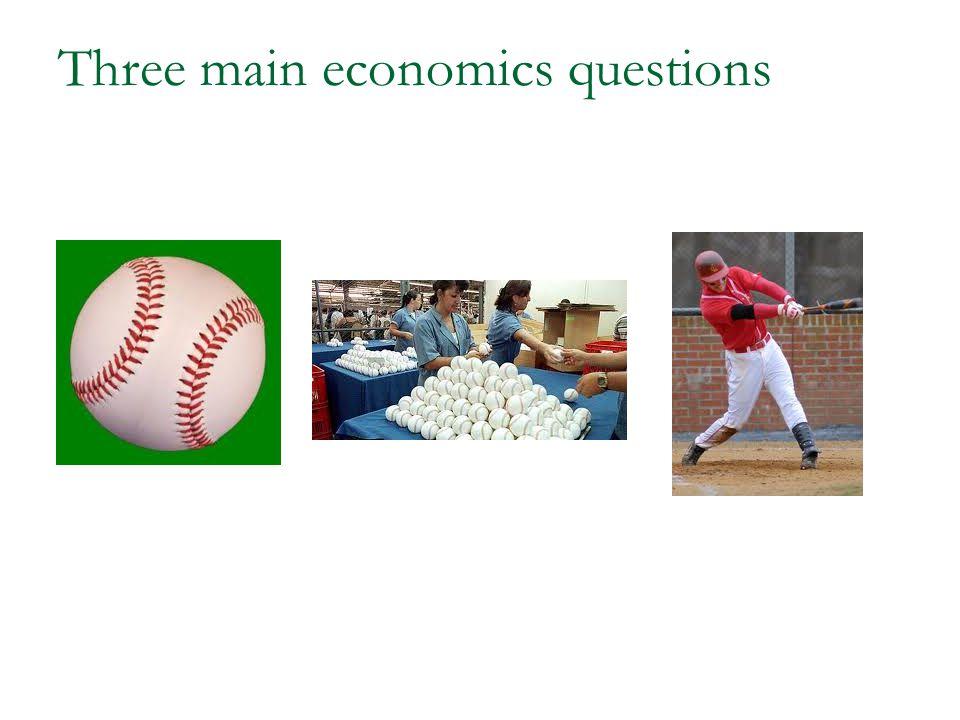Three main economics questions