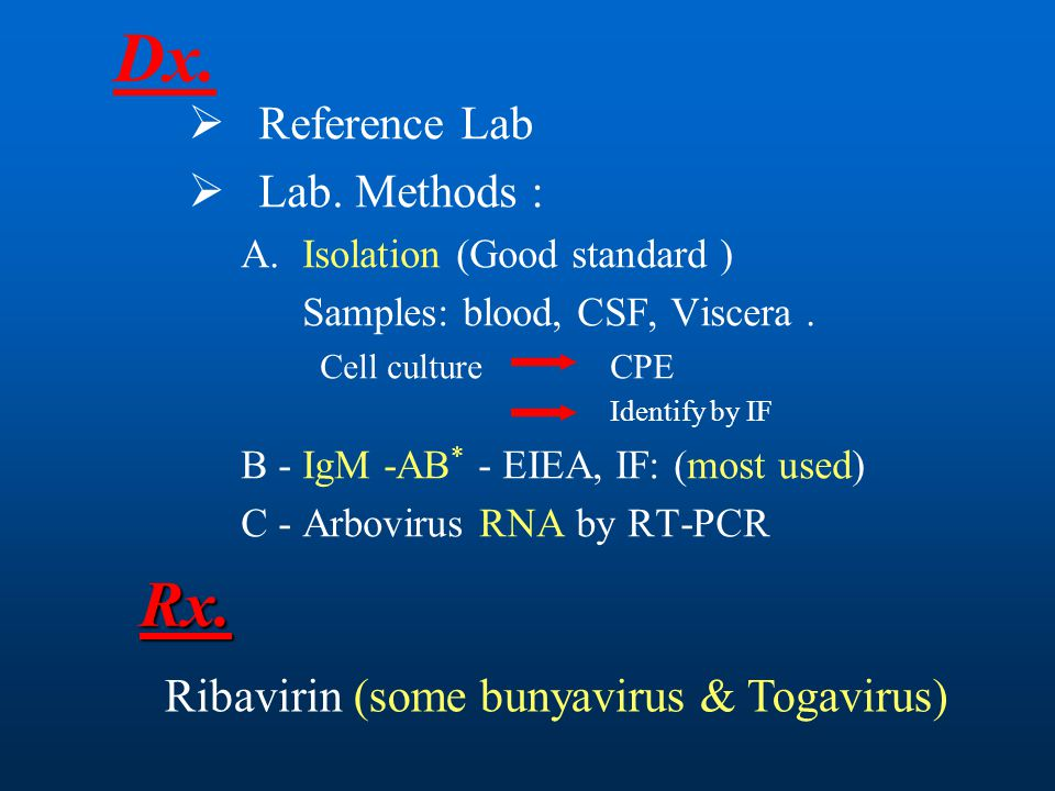 Dx. Rx. Reference Lab Lab. Methods :
