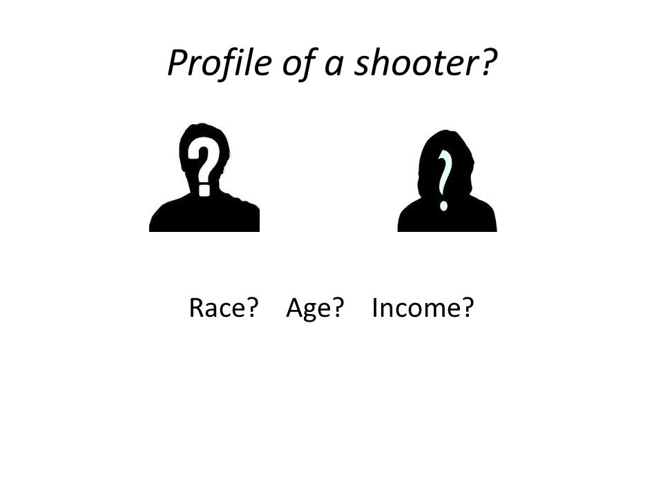 Profile of a shooter Race Age Income