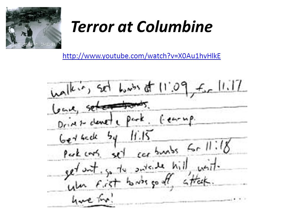 Terror at Columbine   v=X0Au1hvHlkE