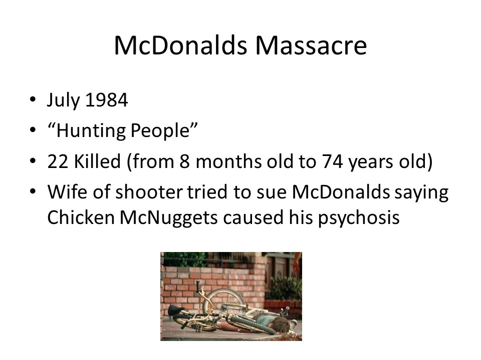 McDonalds Massacre July 1984 Hunting People