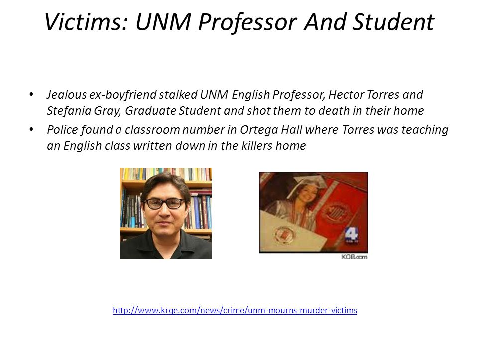 Victims: UNM Professor And Student