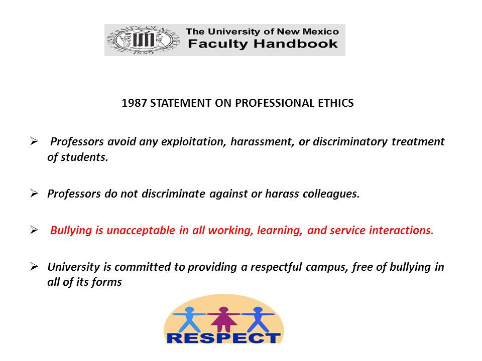 1987 STATEMENT ON PROFESSIONAL ETHICS