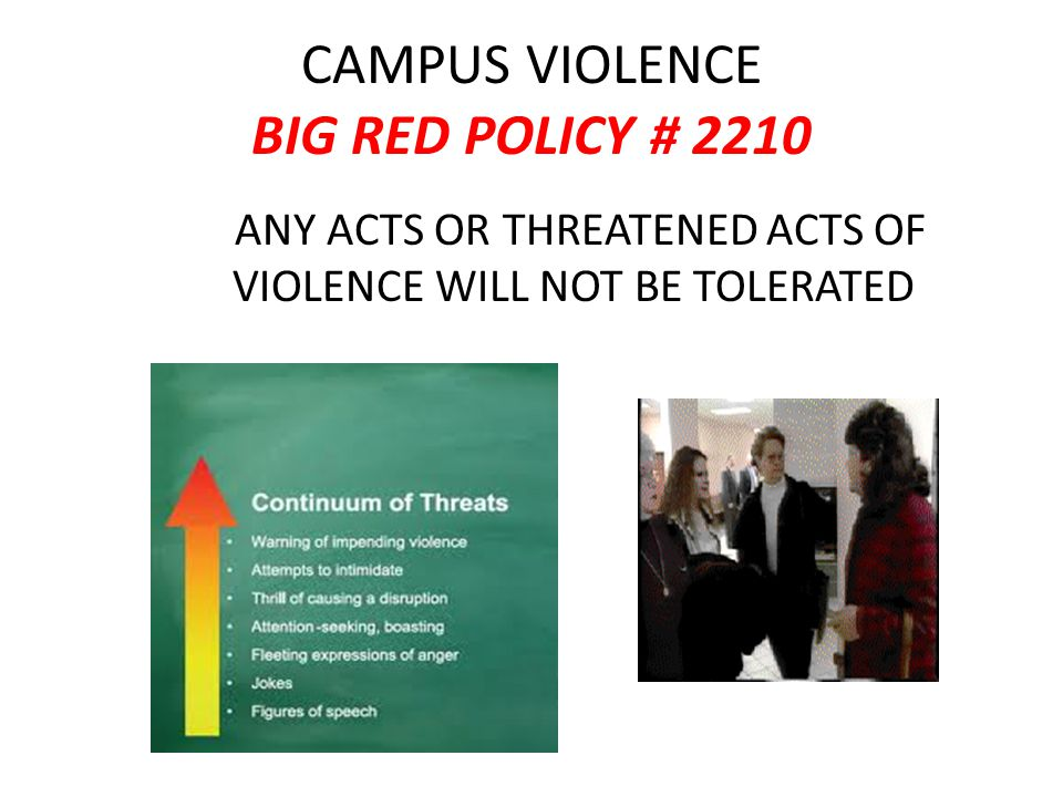 CAMPUS VIOLENCE BIG RED POLICY # 2210