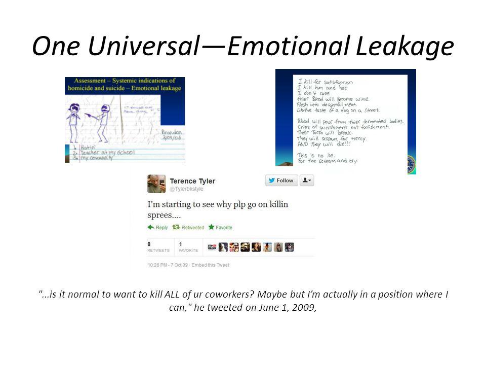 One Universal—Emotional Leakage