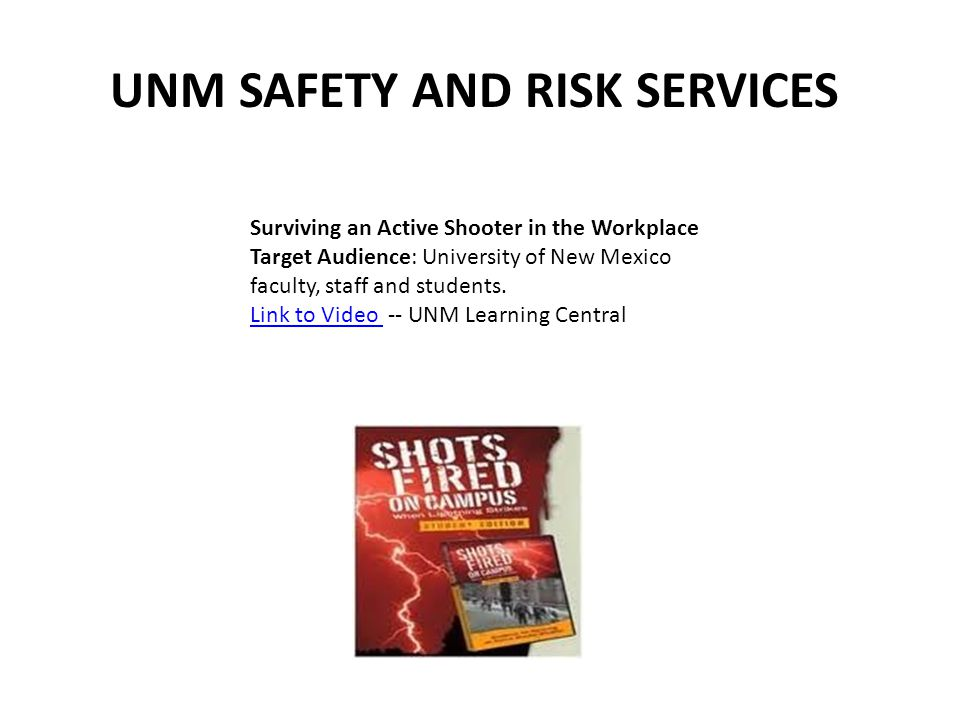 UNM SAFETY AND RISK SERVICES