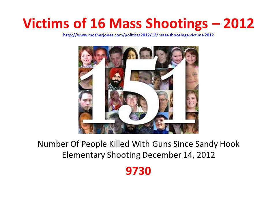 Victims of 16 Mass Shootings – motherjones