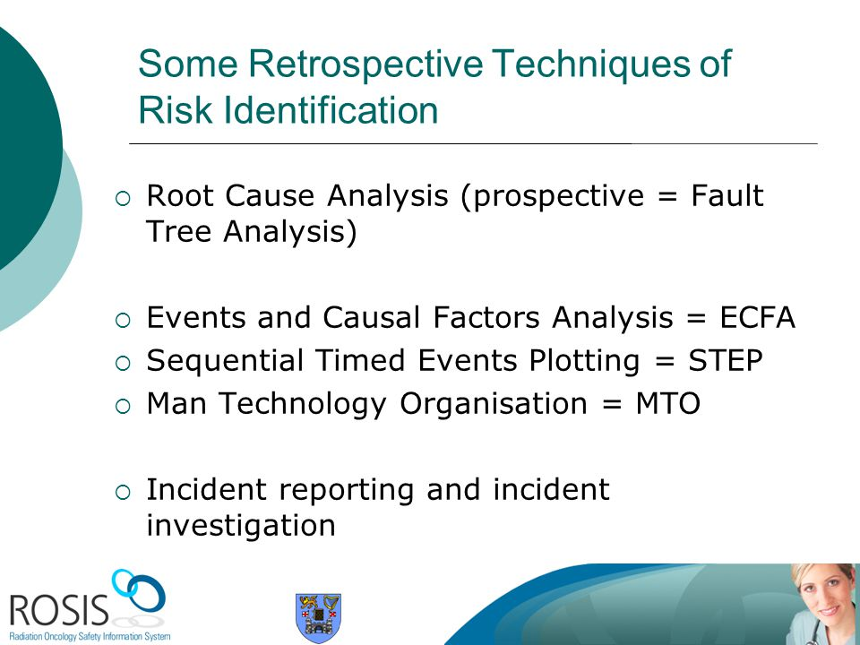 Some Retrospective Techniques of Risk Identification