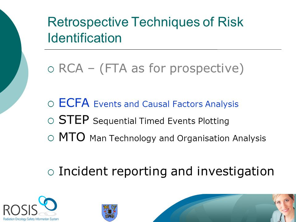 Retrospective Techniques of Risk Identification