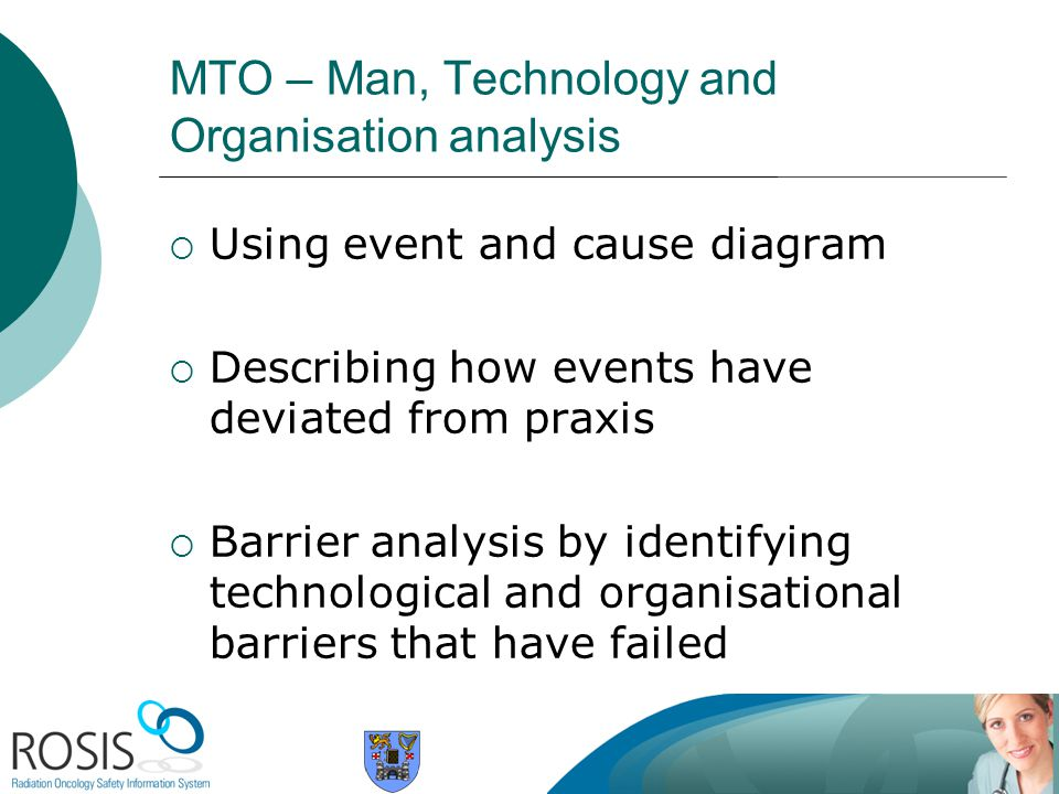 MTO – Man, Technology and Organisation analysis