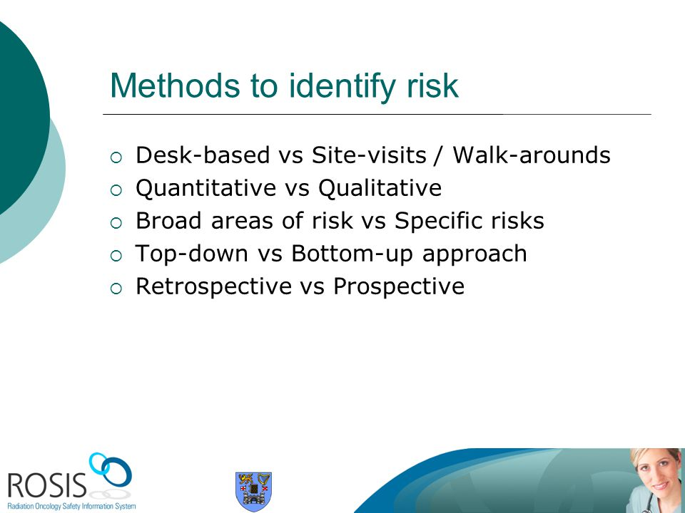 Methods to identify risk