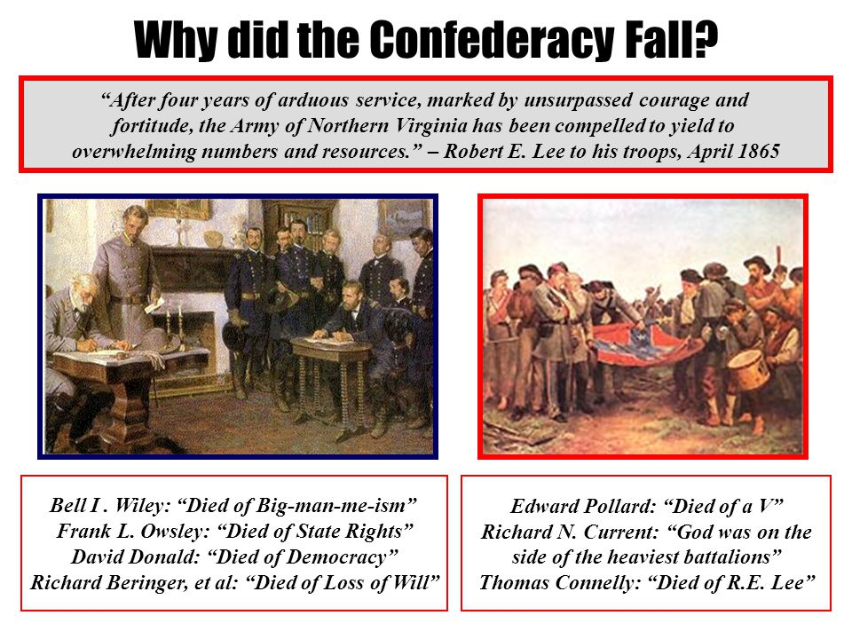 Why did the Confederacy Fall