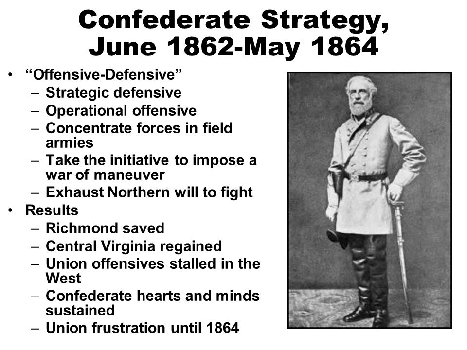 Confederate Strategy, June 1862-May 1864