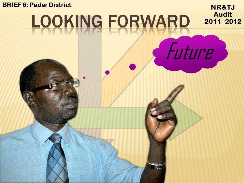 BRIEF 6: Pader District NR&TJ Audit 2011 -2012 LOOKING FORWARD Future