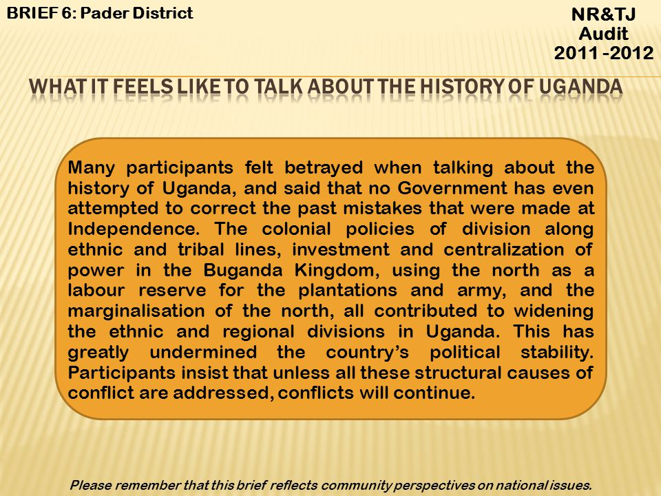 What it feels like to talk about the history of Uganda