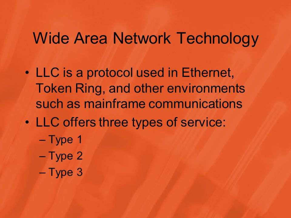 Wide Area Network Technology