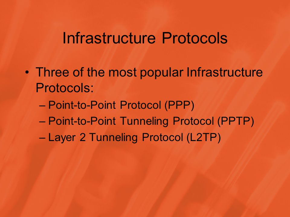 Infrastructure Protocols