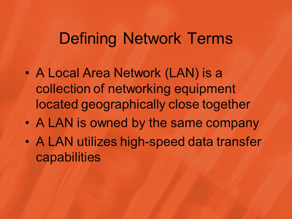 Defining Network Terms