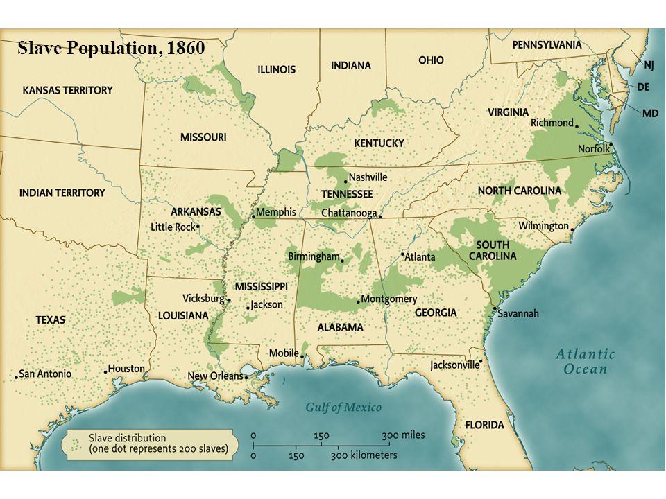 Slave Population, 1860 • pg. 390 Slave Population, 1860