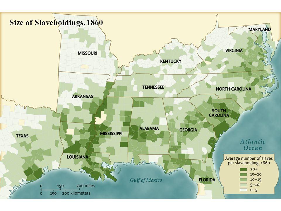 Size of Slaveholdings, 1860 • pg. 395
