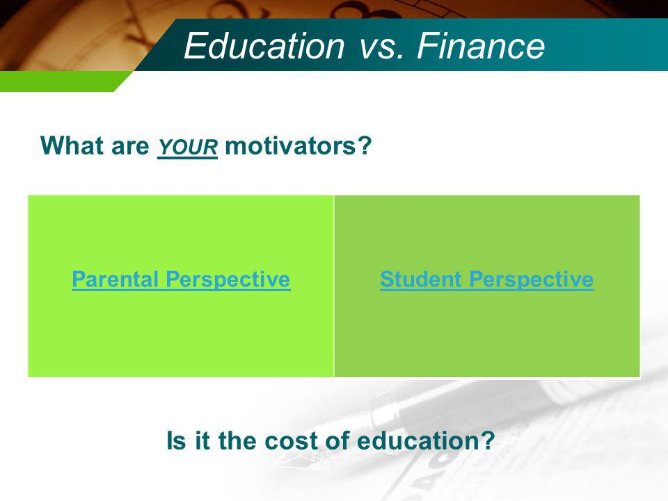 Is it the cost of education