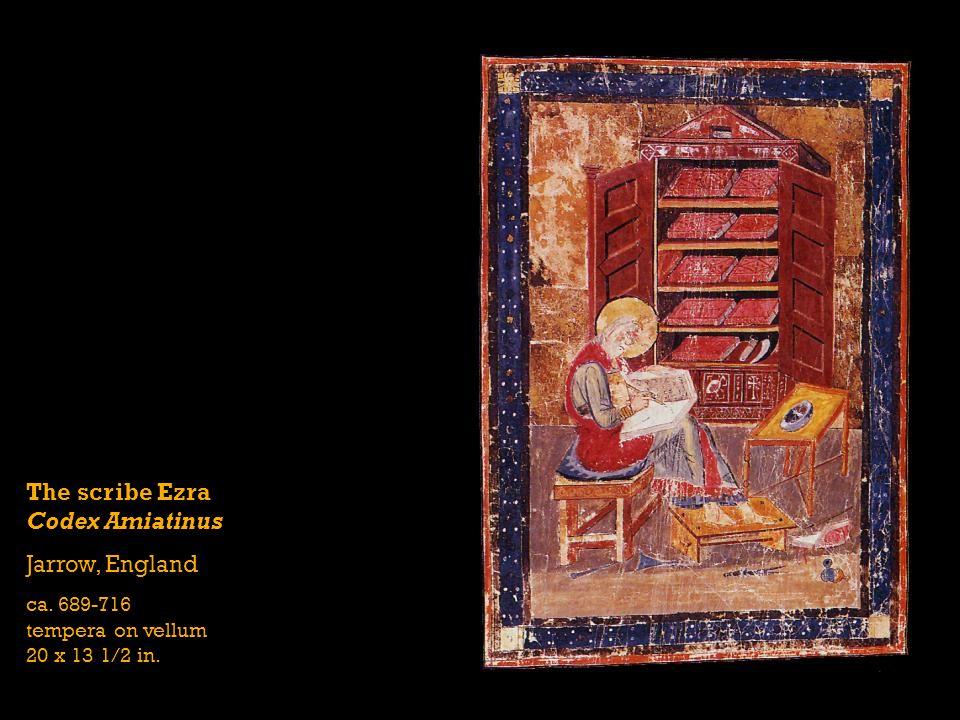 The scribe Ezra Codex Amiatinus Jarrow, England