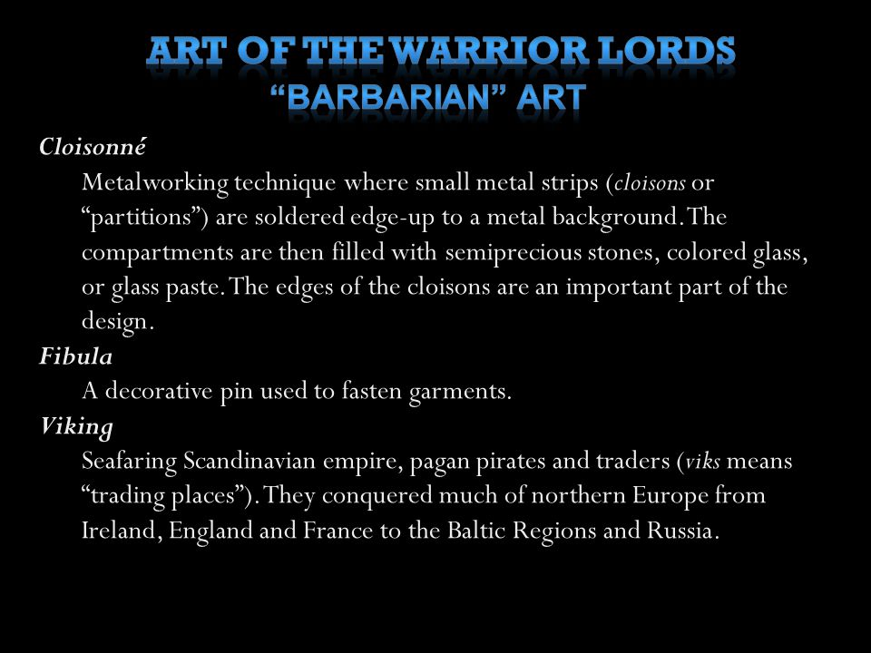 ART OF THE WARRIOR LORDS